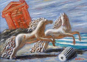 Cavalli Antichi (Ancient Horses) by Giorgio de Chirico contemporary artwork