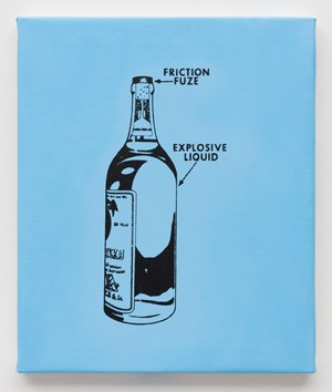 Liquid Explosive Detonated by Pull-Friction Fuze by Gardar Eide Einarsson contemporary artwork