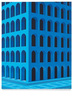 City Square at 4 am (Palazzo della Civiltà Italiana, Small Version) by Daniel Rich contemporary artwork