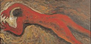 A Red Nude by Mao Xuhui contemporary artwork