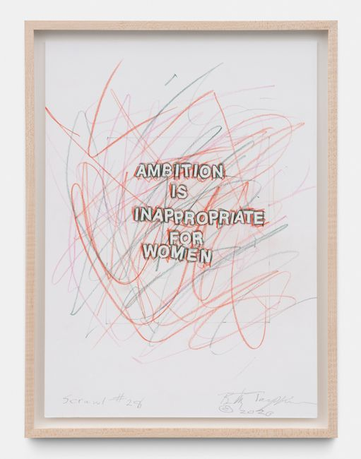 Scrawl #28 by Betty Tompkins contemporary artwork