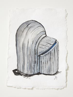 Head[case] working drawing 54 by Julia Morison contemporary artwork