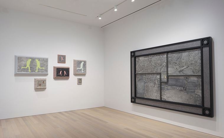 Exhibition view: Richard Artschwager, Primary Sources, Gagosian, 980 Madison Avenue, New York (16 January–23 February 2019). © 2019 Richard Artschwager / Artists Rights Society (ARS), New York. Courtesy Gagosian. Photo: Rob McKeever.