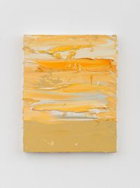 Untitled (French Ochre Havane/Cadmium Yellow Deep/Mixed White) by Jason Martin contemporary artwork painting