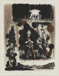 Strickerin by Neo Rauch contemporary artwork print