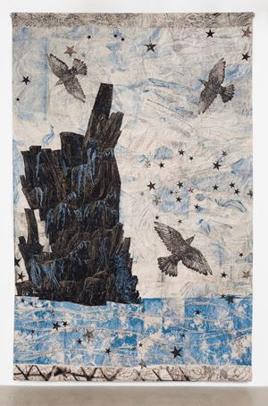 Harbor, (Ocean-rocks-birds) by Kiki Smith contemporary artwork
