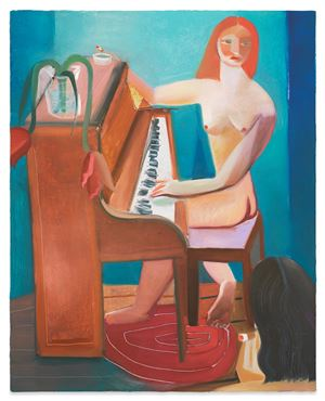 Women Writing Songs by DANIELLE ORCHARD contemporary artwork
