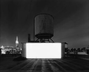 Wolf Building Rooftop, New York by Hiroshi Sugimoto contemporary artwork photography