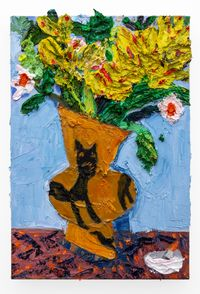 Hylton Nel Vase (Study with cigarette ) by Georgina Gratrix contemporary artwork painting