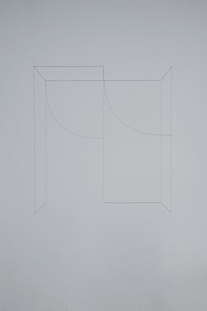 Line Sculpture (cuboid) #35 by Jong Oh contemporary artwork
