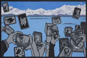 Otherwise Engaged: Lake View by Derek Boshier contemporary artwork