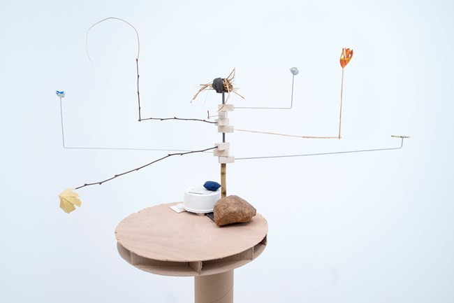 Model for a Twist in Plot by Sarah Sze contemporary artwork