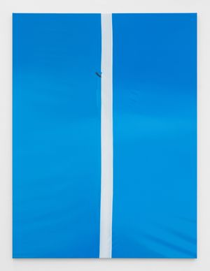 Blue, White, Blue by Marcel Vidal contemporary artwork painting