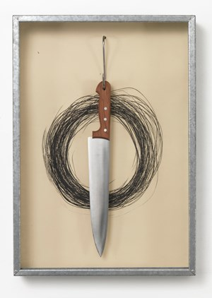 Untitled (Hanging Knife) by Jannis Kounellis contemporary artwork