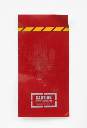 Untitled (caution red) by Oliver Payne contemporary artwork