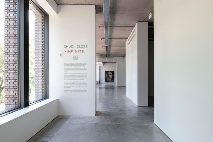 Exhibition view:  Chuck Close, INFINITE, Gary Tatintsian Gallery, Moscow (18 June–25 September 2021). CourtesyGary Tatintsian Gallery.