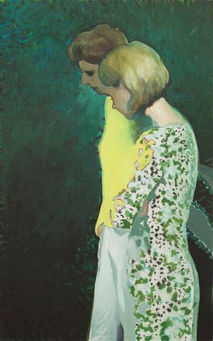 Two Women by Jonathan Wateridge contemporary artwork