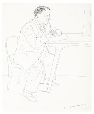 Artist's Father Reading at Table by David Hockney contemporary artwork