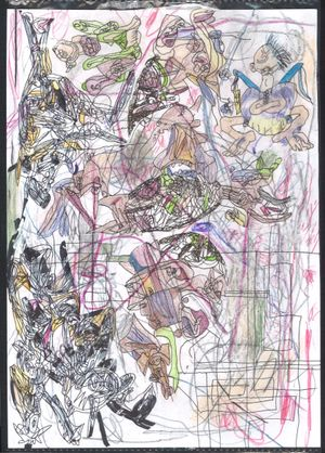 Take the iron-splashed splashed body as evidence This happened in our century All photoreceptors are on vacation by C-Botsu (しー没) contemporary artwork painting, works on paper, drawing