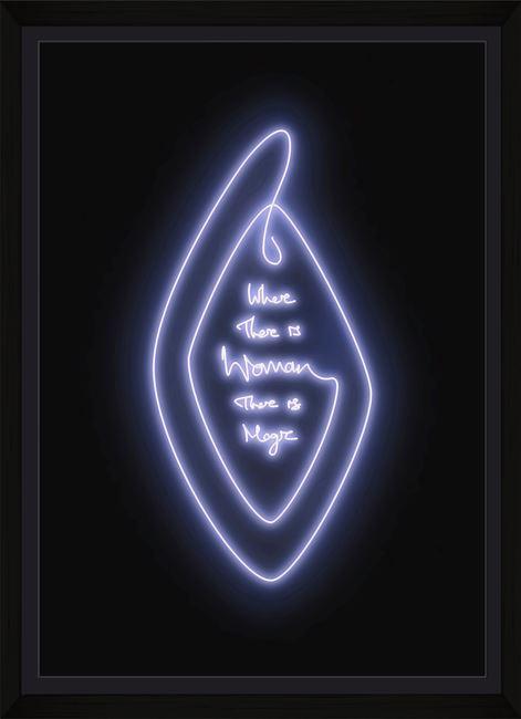 Woman Magic - White Lavender by Lauren Baker contemporary artwork