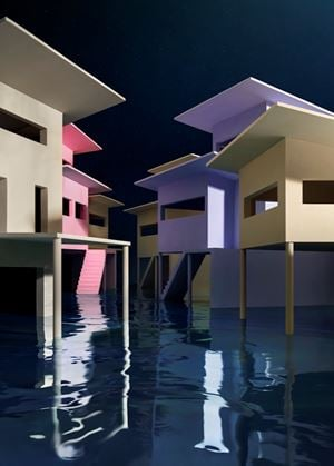 Flooded Street by James Casebere contemporary artwork