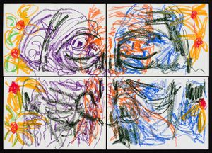 (Emotions of colour) by Pierre Mukeba contemporary artwork