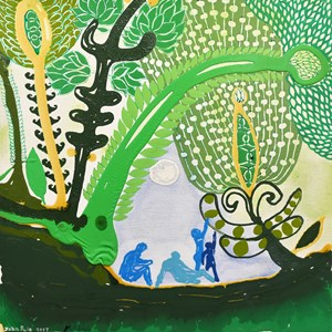 Malilili by John Pule contemporary artwork