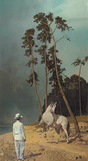 Judging a Horse 相馬圖 by Wei Dong contemporary artwork