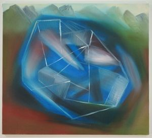 hirnhaus (geträumt) by Miriam Cahn contemporary artwork