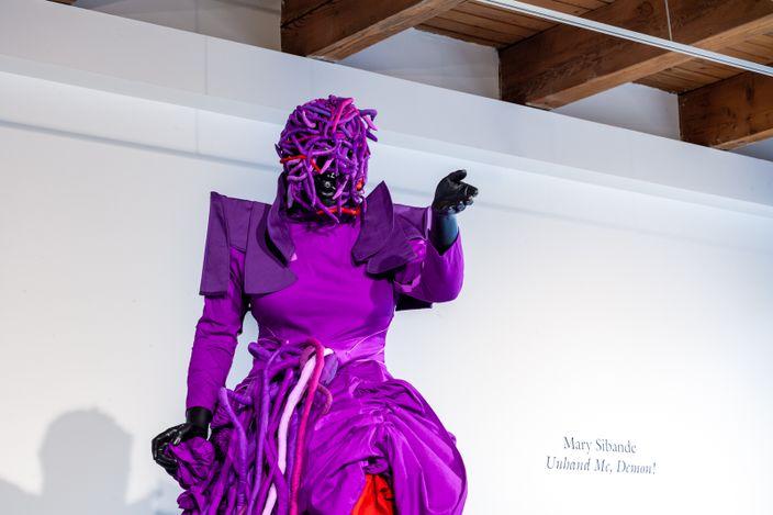 Exhibition view: Mary Sibande, Unhand Me, Demon!, Kavi Gupta, Washington Blvd, Chicago (22 May–31 July 2021). Courtesy Kavi Gupta.