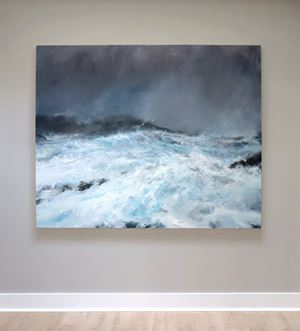 Sea state force 12 - Hurricane Abigail, Scatness by Janette Kerr contemporary artwork