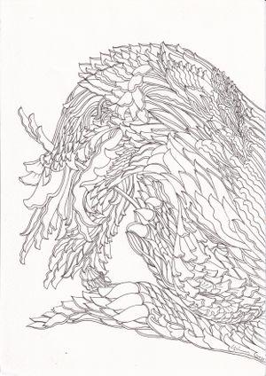 Lion/ Dragon I by Chandraguptha Thenuwara contemporary artwork