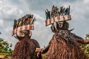 Kuba Bird Masks, DR Congo by Carol Beckwith & Angela Fisher contemporary artwork