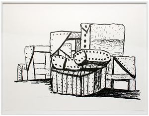 Studio Forms by Philip Guston contemporary artwork
