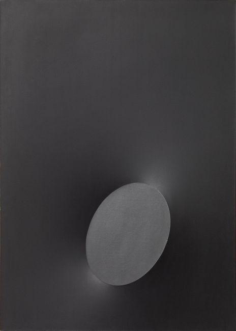 A Black Oval by Turi Simeti contemporary artwork