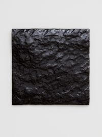 Untitled (Black Earth) by Mary Corse contemporary artwork sculpture, ceramics