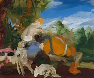 Medium Study I for Venus and Adonis by Elise Ansel contemporary artwork