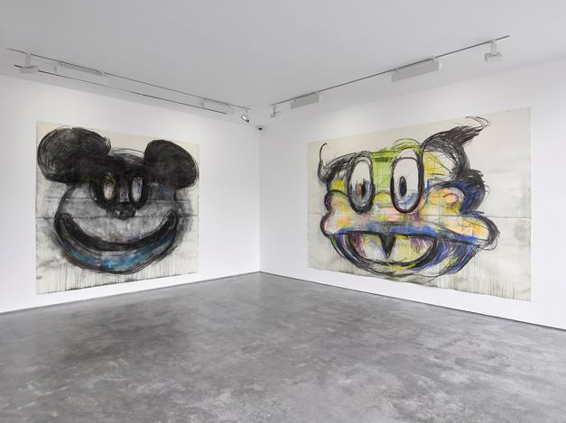 Exhibition view:Joyce Pensato,FORGETTABOUT IT, Lisson Gallery, London (19 May – 24 June 2017). Courtesy Lisson Gallery, London.