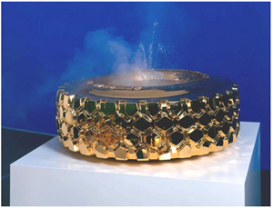 (Gold) Fountain LKW by Sylvie Fleury contemporary artwork