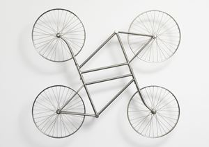 Forever (Stainless Steel Bicycles in Silvery, duo) by Ai Weiwei contemporary artwork