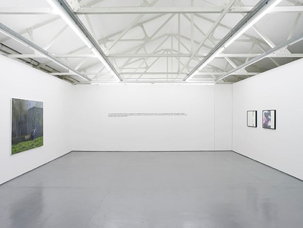 Group Exhibition curated by Michael Bracewell, Hounded by External Events,2016, Exhibition view at Maureen Paley, London. Courtesy the Artists and Maureen Paley. © the Artists.