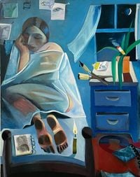 Night Studio by Danielle Orchard contemporary artwork painting