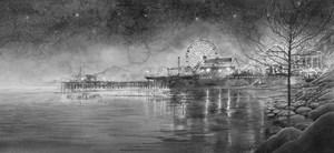 Amusement Park by Night by Hans Op de Beeck contemporary artwork