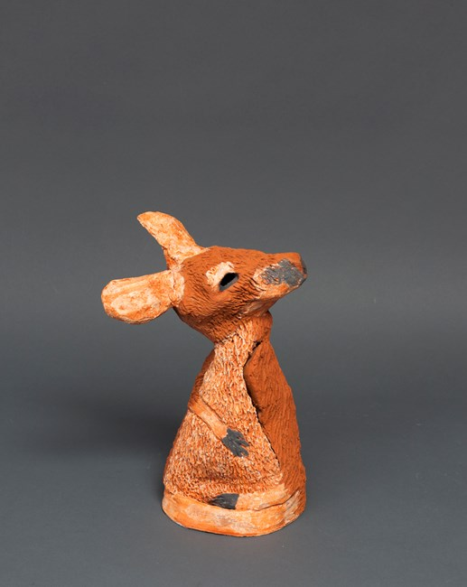 Maquette Terra Cotta Kangaroo 1 by Peter Cooley contemporary artwork