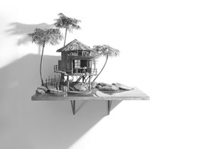Writer's Island (2) by Hans Op de Beeck contemporary artwork