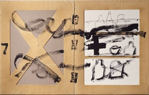 'Frontisses' (Hinges) by Antoni Tàpies contemporary artwork