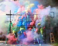 Smoke Bombs 2 by Olaf Breuning contemporary artwork photography