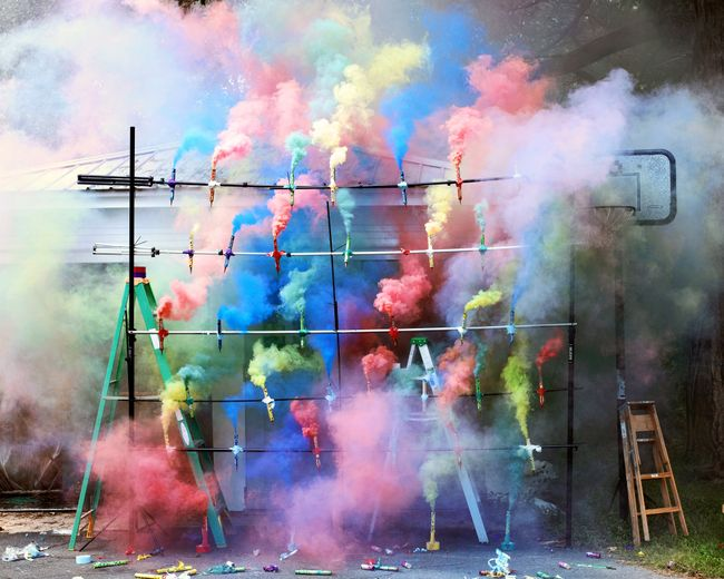 Smoke Bombs 2 by Olaf Breuning contemporary artwork