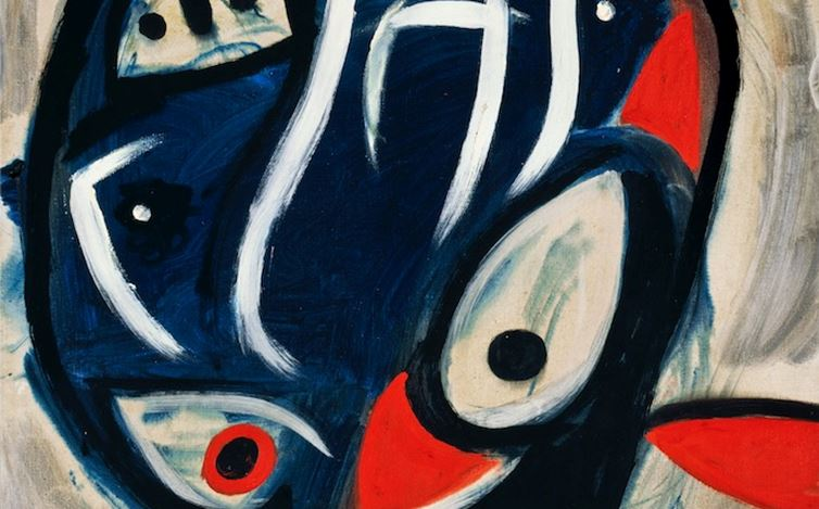 Joan Miró, Personnage (1977) (detail). Oil on canvas. 92 x 73 cm. Courtesy Galerie Gmurzynska.