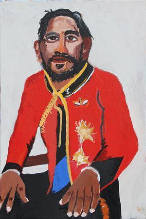 The Royal Tour (Self Portrait 3) by Vincent Namatjira contemporary artwork